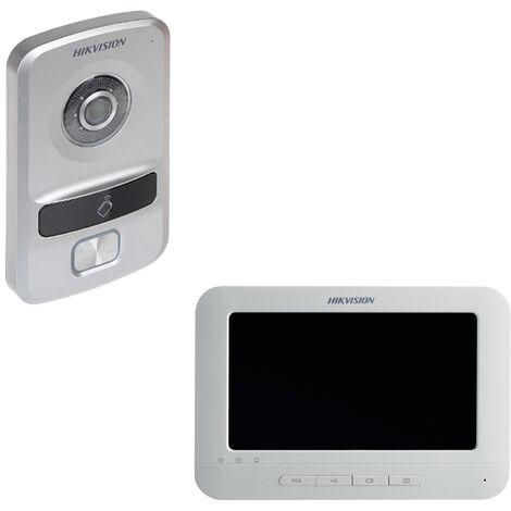 Pack Portier vidéo avec lecteur RFID Mifare et Écran 7 - Hikvision