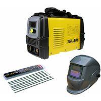 Pack poste à souder 160A + masque de soudure motifs gris + 50 électrodes Silex ®
