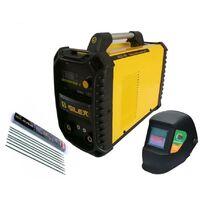 Pack poste à souder 160A + masque de soudure noir + 50 électrodes Silex ®