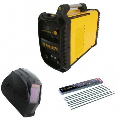 Pack poste à souder MMA IGBT/inverter 160A + cagoule de soudure V-max + 50 électrodes Silex ®