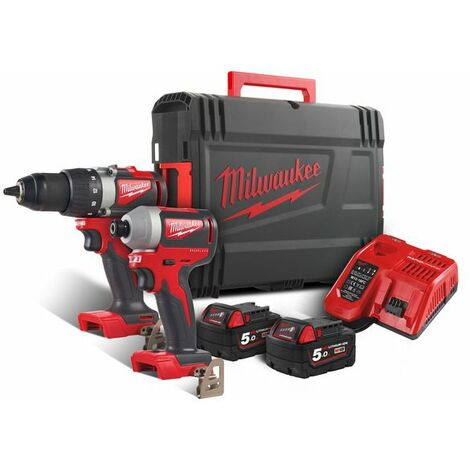 PACK POWER M18 MILWAUKEE PERCEUSE-VISSEUSE + VISSEUSE À CHOCS BLPP2B2 - 4933464594 - -