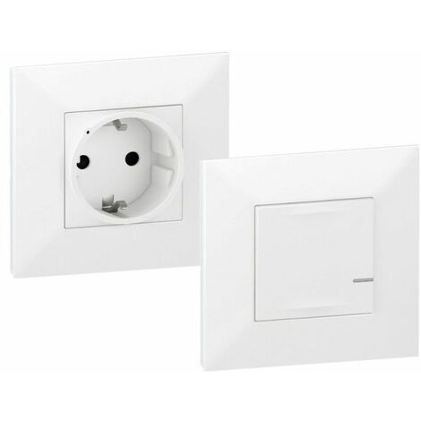 Pack preconfigurados base de corriente Legrand 741824 serie Valena Next with Netatmo color Blanco