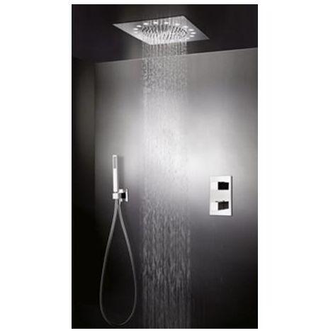 Pack premium douche thermostatique encastré avec plafond de pluie QUADRI - CRISTINA ONDYNA XQD3690