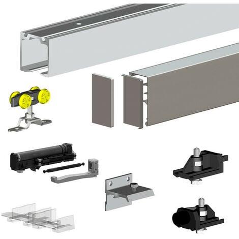 Pack premium SLID'UP 160 pour porte coulissante jusqu'à 1000 mm - rail 1,94 m - 60 kg