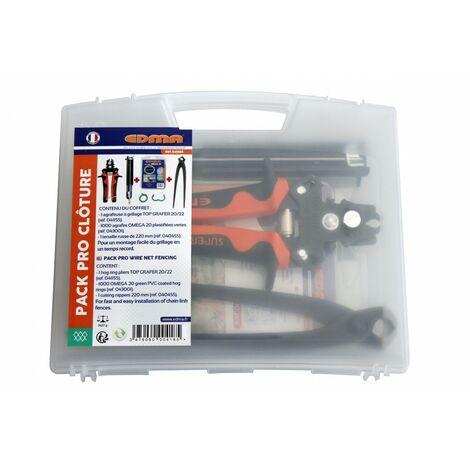 Pack pro cloture EDMA 1 agrafeuse + 1 tenaille + 1000 agrafes - 041855