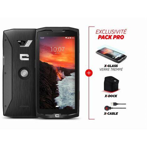 """main image of """"Pack smartphone PRO CORE-M4 + verre trempé X-Glass + écouteurs sans fil X-Play"""""""