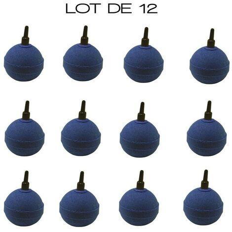 Pack PROMO 12 X Diffuseurs d'air ( boules ) ronds pour aérer les bassins de jardin : 5 cm