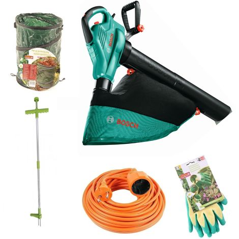Pack promo automne | Bosch ALS 2400 souffleur de feuilles + gants de jardin + sac poubelle de jardin + sarcloir+ cordon
