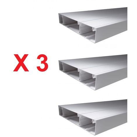 Pack promo de 3 GTL 18 modules (13M+5M) H2500mm L359mm P63mm avec couvercles et accessoires OPALE SCHNEIDER OPL10536-3