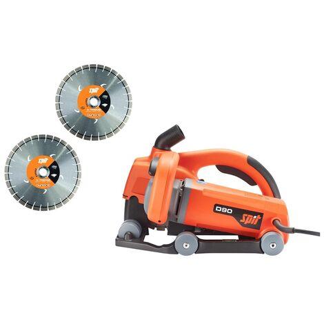 Fraise à rainurer Spit D90 + 2x meule universelle en coffret - 2500W - 150mm