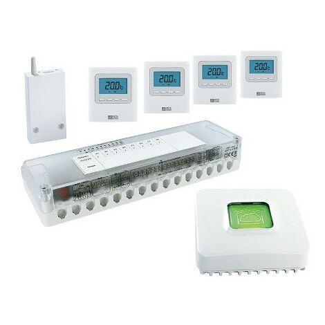 Pack régulation Delta 8000 - 4 zones - Pour plancher hydraulique ou climatisation gainable