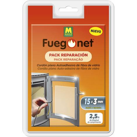 Pack reparacion fuego net cordon plano autoadhesivo de fibra de vidrio 15x3mm 2,5mts masso