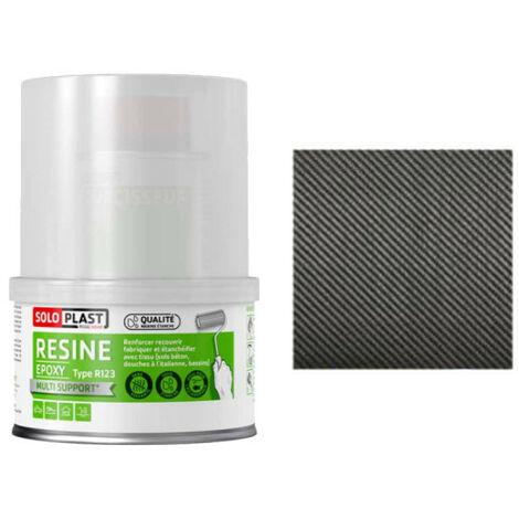 Pack résine epoxy type R123 Soloplast 250g - 0.5 m2 Fibre de carbone Serge 195g/m2