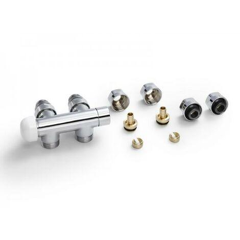 Pack Robinetterie thermostatisable H equerre chromé tête à gauche - ACOVA 841518