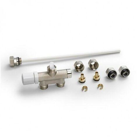 Pack Robinetterie thermostatisable monopoint monotube / bitube droit nickelé - ACOVA 832520