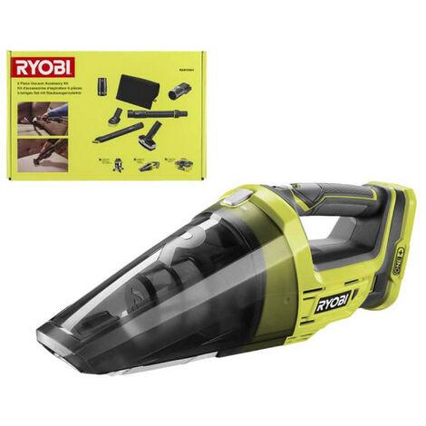 Pack RYOBI Aspirateur à main 18V One Plus - sans batterie ni chargeur R18HV-0 - 6 accessoires nettoyage automobile - RAKVA04