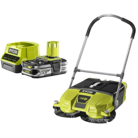 Pack RYOBI Balayeuse motorisée 18V OnePlus 533 mm R18SW3-0 - 1 Batterie 2.5Ah - 1 Chargeur rapide RC18120-125