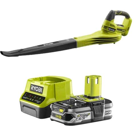 Pack RYOBI Blower 18V OnePlus OBL1820S - 1 Battery 2.5Ah - 1 Quick Charger RC18120-125