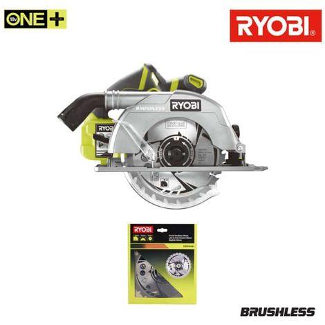 Pack RYOBI Brushless circular saw 18V OnePlus 60mm R18CS7-0 - carbide blade 184mm 24 teeth CSB184A1