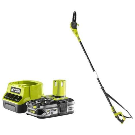 Pack RYOBI Elagueur à chaine sur perche 18V OnePlus OPP1820 - 1 Batterie 2.5Ah - 1 Chargeur rapide RC18120-125