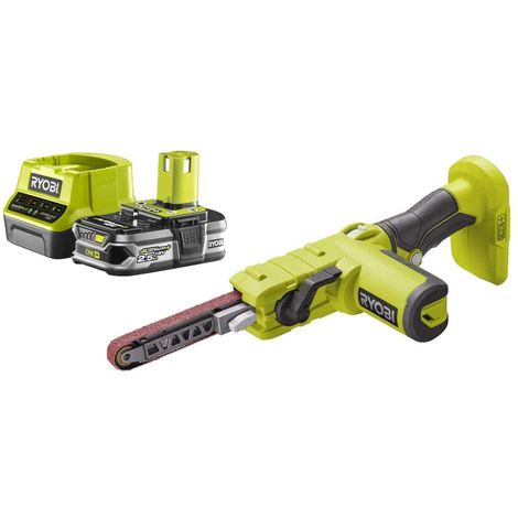 Pack RYOBI Electric File 18V R18PF-0 - 1 Battery 2.5Ah - 1 Quick Charger RC18120-125