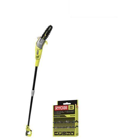 Pack RYOBI electric pruner on pole RPP755E - 25cm chain for electric pruner on pole RAC240