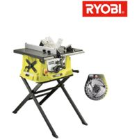 Pack Ryobi electric table saw 1800W 254mm retractable base RTS1800S - carbide blade for saws 254mm 24 teeth SB254T24