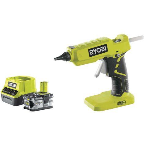 Pack RYOBI glue gun 18V OnePlus R18GLU-O - 1 battery 4.0Ah - 1 quick charger 2.0Ah RC18120-140