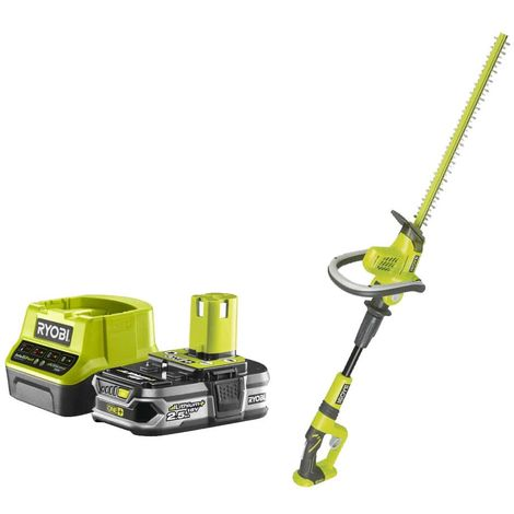 Pack RYOBI Hedge Trimmer on articulated arm 18V OnePlus OHT1850X - 1 Battery 2.5Ah - 1 Fast Charger RC18120-125