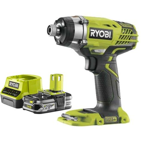 Pack RYOBI Impact Driver 18V OnePlus R18ID3-0 - 1 Battery 2.5Ah - 1 Quick Charger RC18120-125