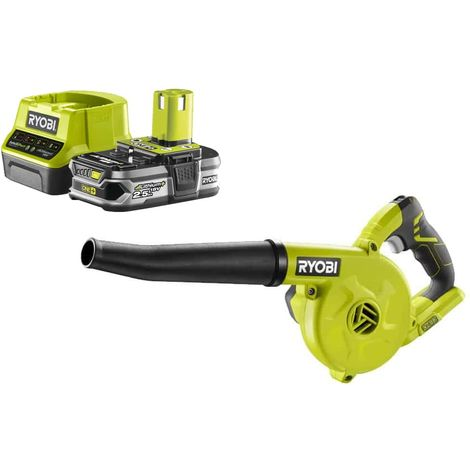 Pack RYOBI OnePlus R18TB-0 18V Workshop Blower - 1 Battery 2.5Ah - 1 Rapid Charger RC18120-125