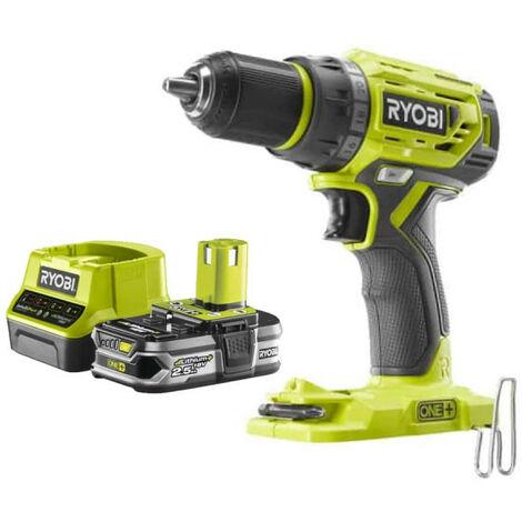Pack RYOBI Perceuse Visseuse 18V One Plus Brushless R18DD7-0 - 1 Batterie 2.5Ah - 1 Chargeur rapide RC18120-125