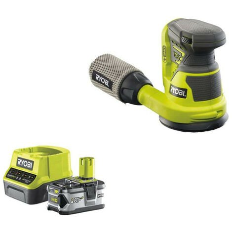 Pack RYOBI ponceuse excentrique 18V OnePlus R18ROS-0 - 1 batterie 4.0Ah - 1 chargeur rapide 2.0Ah RC18120-140