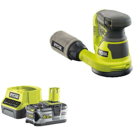 Pack RYOBI ponceuse excentrique 18V OnePlus R18ROS-0 - 1 batterie 5.0Ah - 1 chargeur rapide 2.0Ah RC18120-150