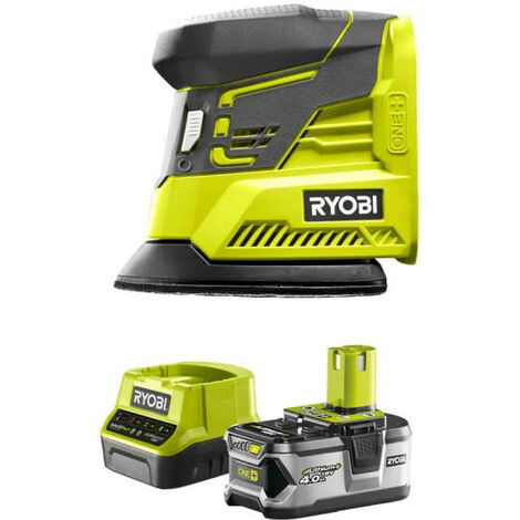Pack RYOBI ponceuse triangulaire 18V OnePlus R18PS-0 - 1 batterie 4.0Ah - 1 chargeur rapide 2.0Ah RC18120-140