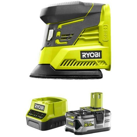 Pack RYOBI ponceuse triangulaire 18V OnePlus R18PS-0 - 1 batterie 5.0Ah - 1 chargeur rapide 2.0Ah RC18120-150