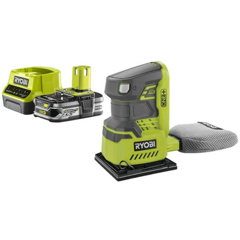 Pack RYOBI Ponceuse vibrante 18V OnePlus - 1 Batterie 2.5Ah R18SS4-0 - 1 Chargeur rapide RC18120-125