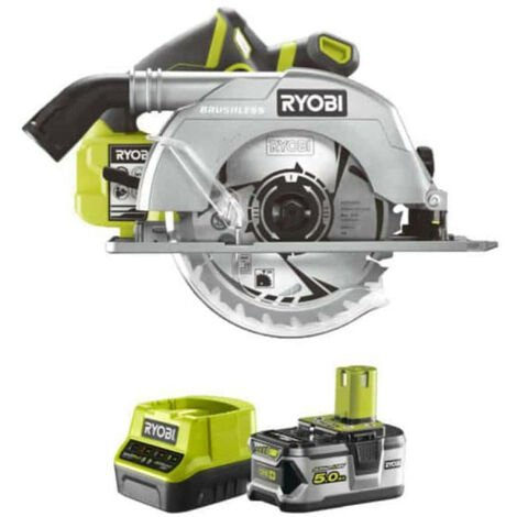 Pack RYOBI Scie circulaire Brushless 18V OnePlus 60mm R18CS7-0 - 1 batterie 5.0Ah - 1 chargeur rapide 2.0Ah RC18120-150