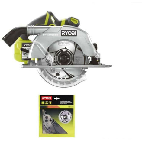 Pack RYOBI Scie circulaire Brushless 18V OnePlus 60mm R18CS7-0 - lame carbure 184mm 24 dents CSB184A1