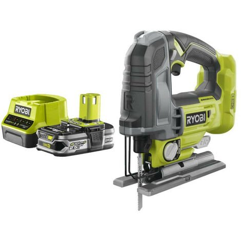 Pack RYOBI Scie sauteuse pendulaire 18V OnePlus Brushless - 135 mm R18JS7-0 - 1 Batterie 2.5Ah - 1 Chargeur rapide RC18120-125