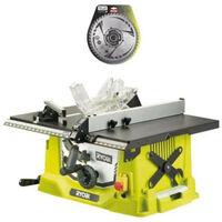 Pack RYOBI Scie sur table électrique 1800W 254mm RTS188-G - lame carbure pour scie à coupe d'onglets 254mm SB254T48A1