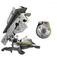 Pack RYOBI scie sur table et onglet électrique 1800W 254mm RTMS1800-G - lame carbure pour scies à coupe d'onglet 254mm SB254T48A1