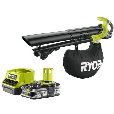 Pack RYOBI Souffleur aspiro-broyeur 18V OnePlus Brushless OBV18 - 1 Batterie 2.5Ah - 1 Chargeur rapide RC18120-125