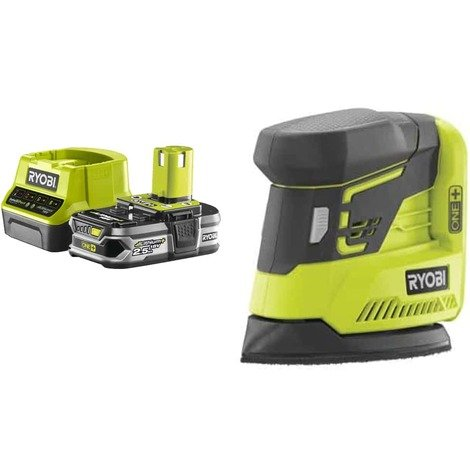 Pack RYOBI Triangular Sander 18V OnePlus R18PS-0 - 1 Battery 2.5Ah - 1 Quick Charger RC18120-125