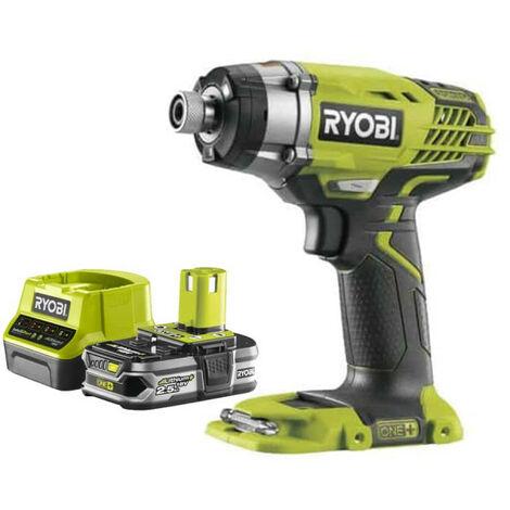 Pack RYOBI Visseuse à choc 18V OnePlus R18ID3-0 - 1 Batterie 2.5Ah - 1 Chargeur rapide RC18120-125