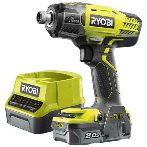 Pack RYOBi visseuse à chocs 18V OnePlus R18QS-0 - Batterie 2.0Ah LithiumPlus - Chargeur rapide 2.0Ah RC18120-120
