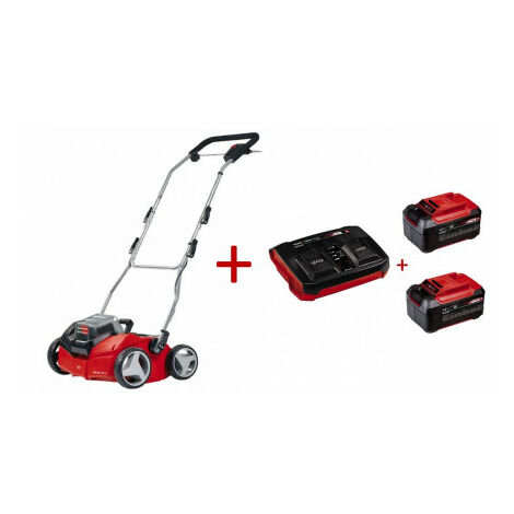 Pack scarificateur de batterie GE-SC 35 Li + 2 Power-X-Twincharger 5.2 A Einhell