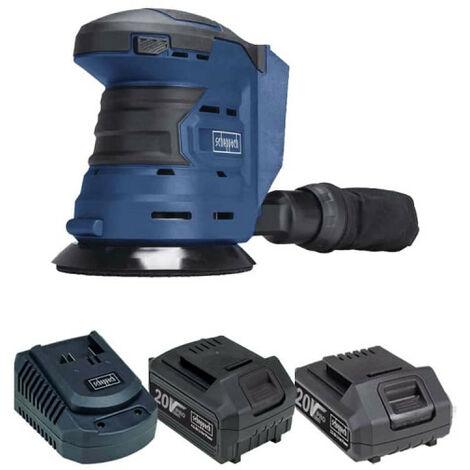 Pack SCHEPPACH Kabelloser Exzenterschleifer 20V COS125-20ProS - 1 Akku 4,0Ah - 1 Akku 2,0Ah - 1 Schnellladegerät