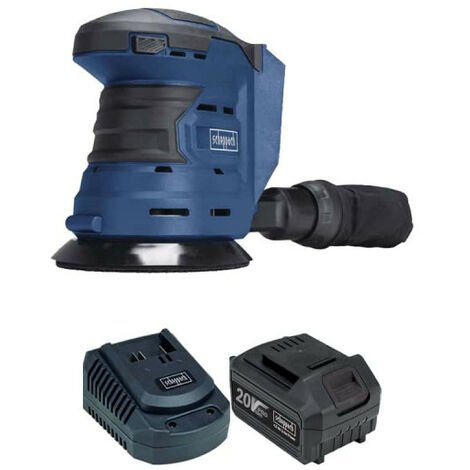 Pack SCHEPPACH Kabelloser Exzenterschleifer 20V COS125-20ProS - 1 Batterie 4,0Ah - 1 Schnell-Ladegerät
