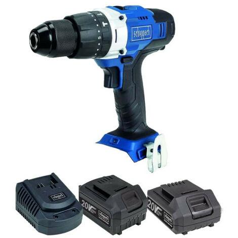 Pack SCHEPPACH Perforateur sans fil 20V CCD45-20ProS - 1 Batterie 4.0Ah - 1 Batterie 2.0Ah - 1 Chargeur rapide